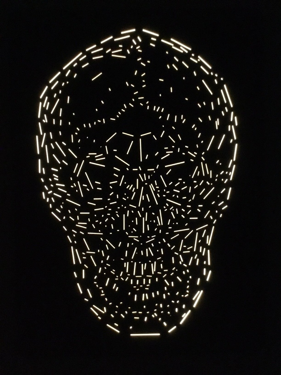 Memento Mori light sculpture