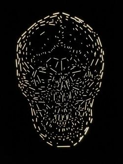 Memento Mori light sculpture
