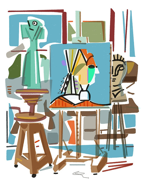 'L'Atelier d'Artiste' limited edition print - the Picasso Suite