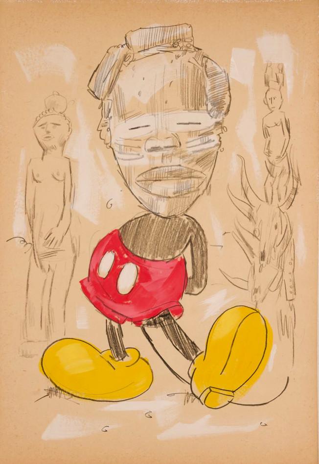 Mickey wears We (mask)