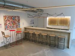 Bar area of LeStudio, Paris