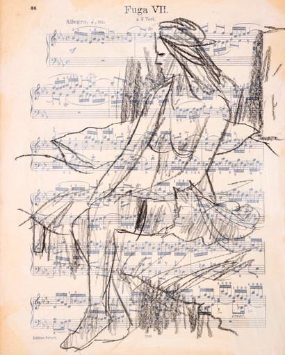 Mara - music score with cat