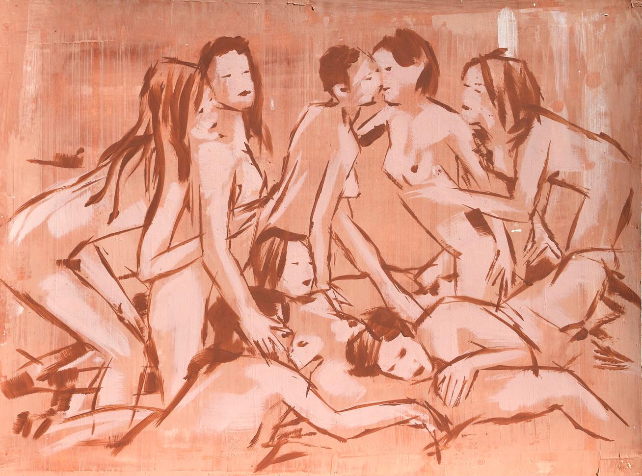 The End of Seduction - 60 x 80 cm - acry
