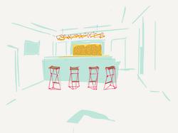 proposal for Le Studio bar area