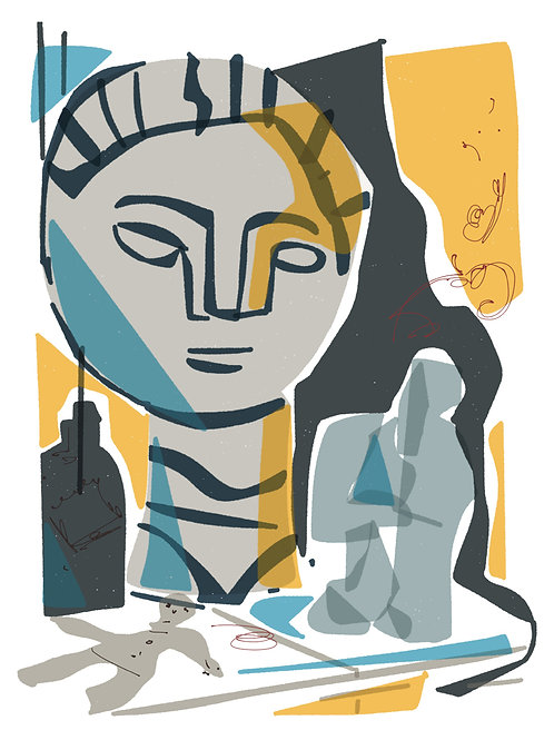 'Picasso Head' limited edition print - the Picasso Suite