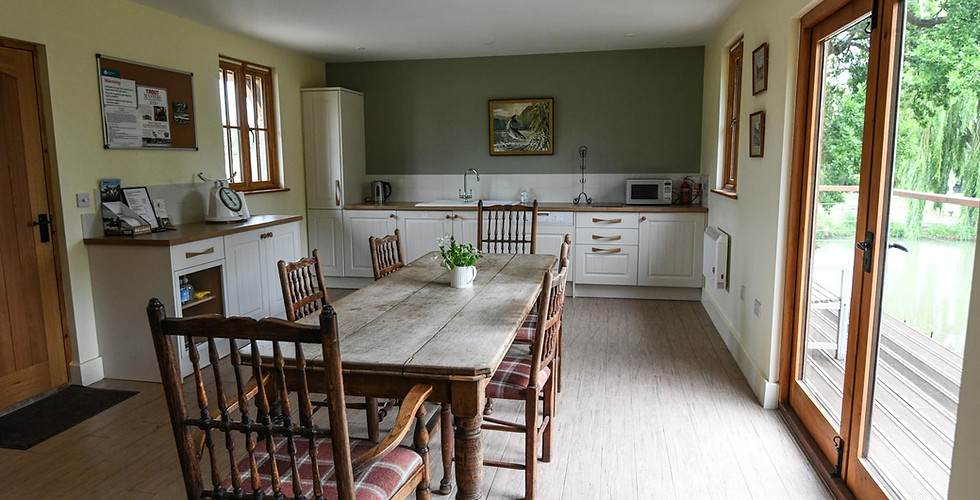 Tenterden Trout Waters Fishing Lodge Kitchen