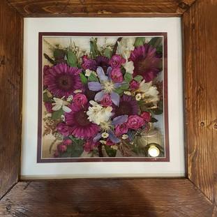 Preserved wedding bouquet.