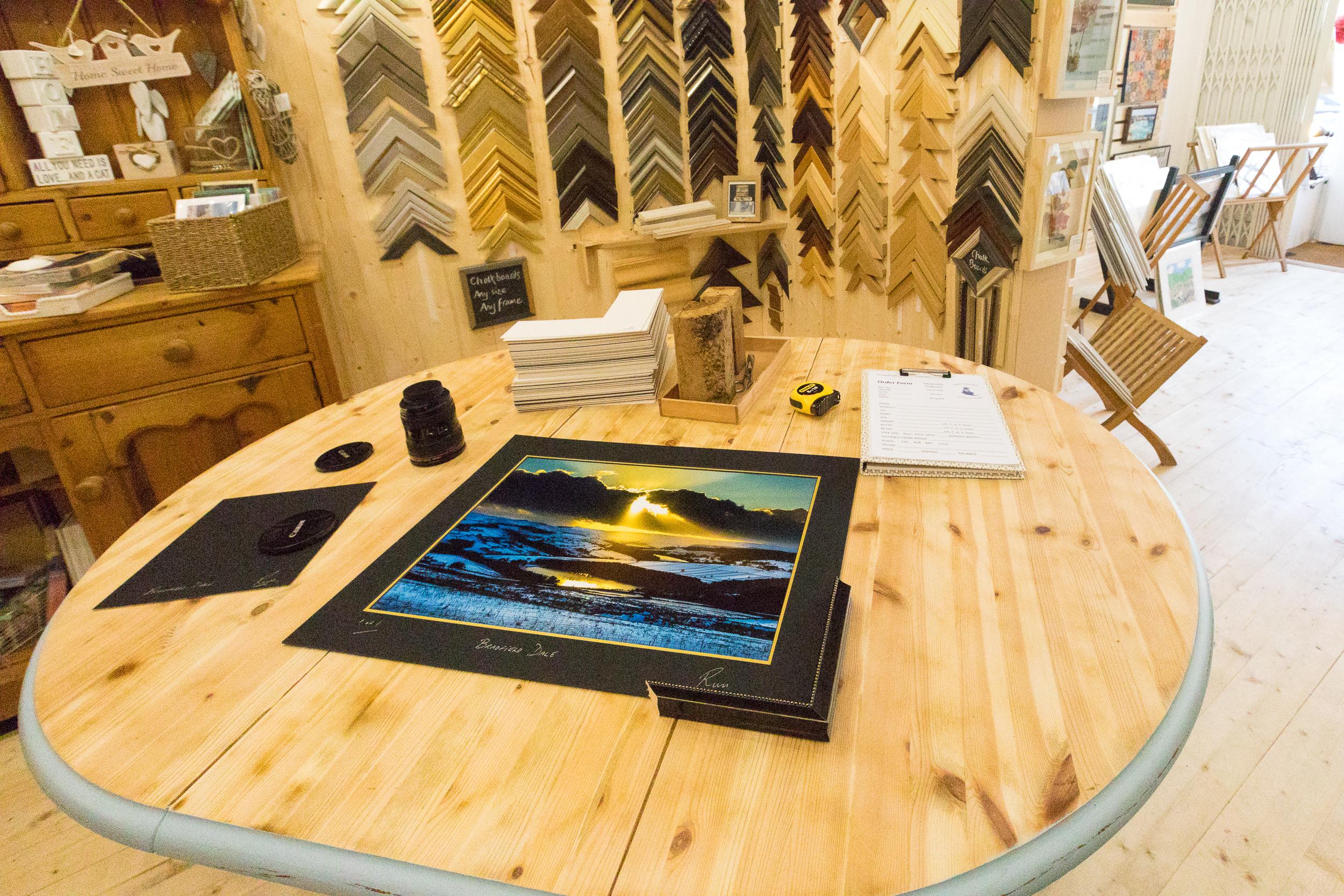Curo Gallery framing.