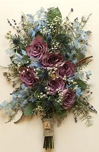 Preserved wedding bouquet flowers