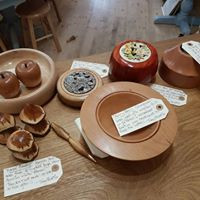 Various hand turned wooden items
