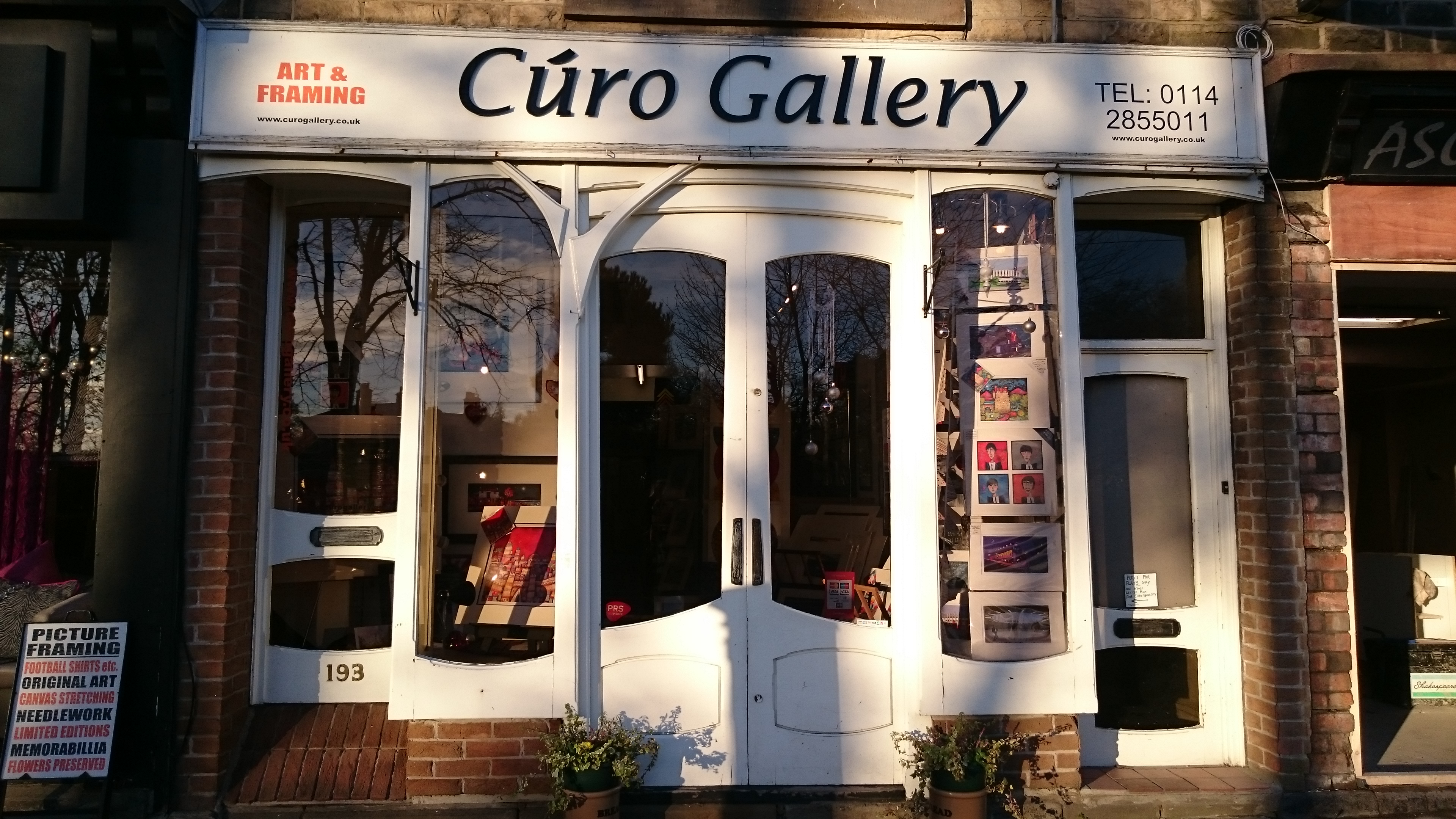 Curo Gallery shop front