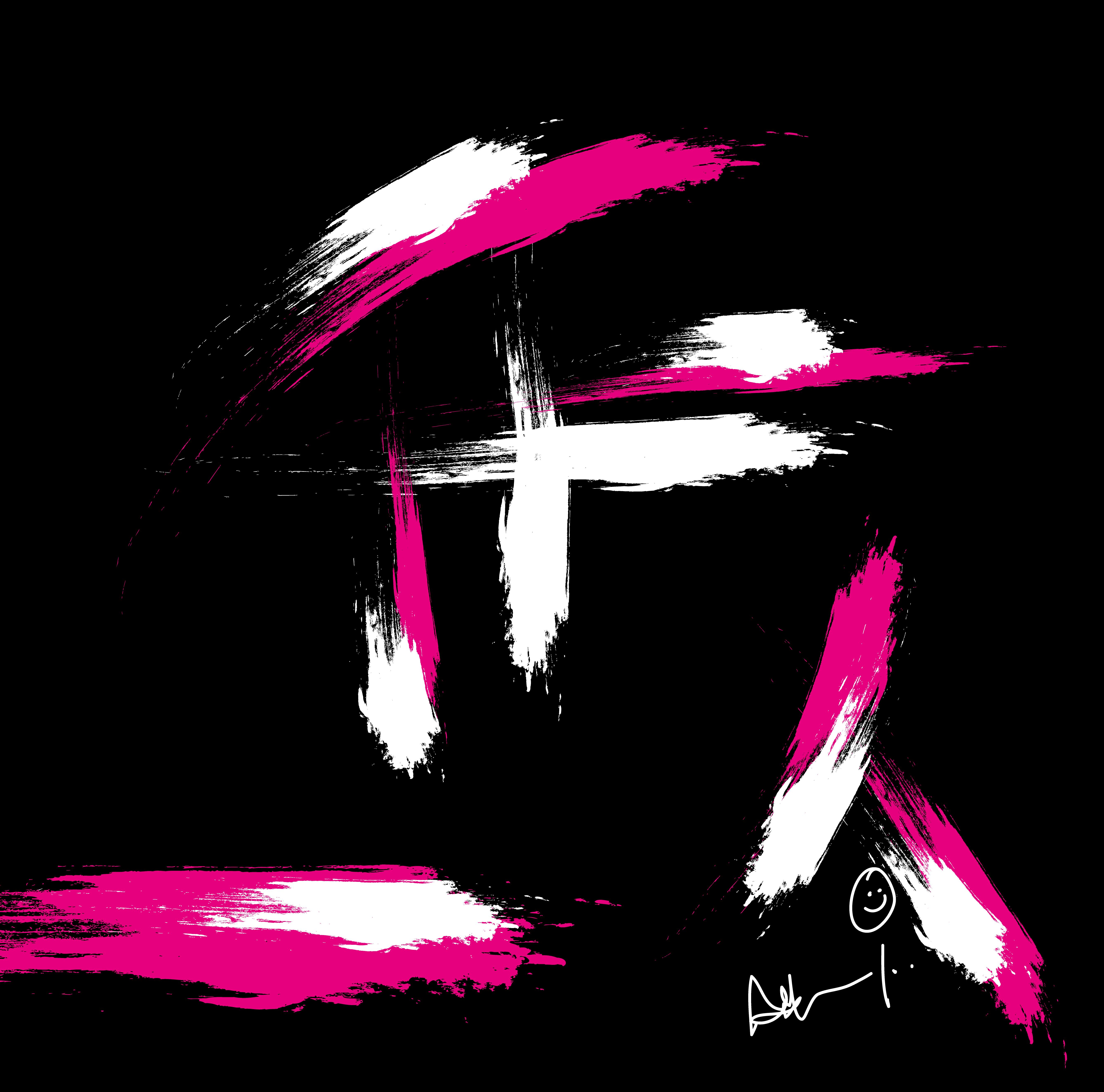 pink on black-01