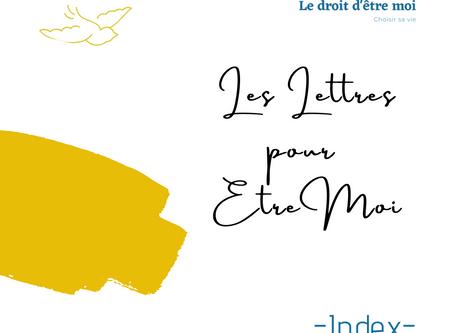 Index des Lettres pour Etre Moi