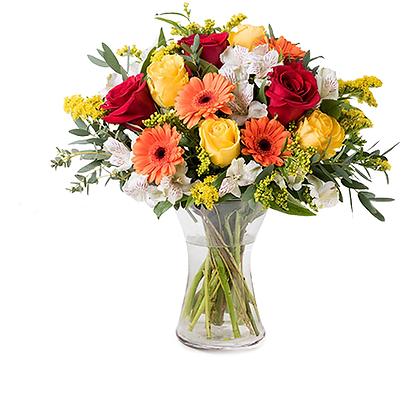 June: Gerberas and Roses