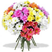 Bouquet with colorful chrysanthemums