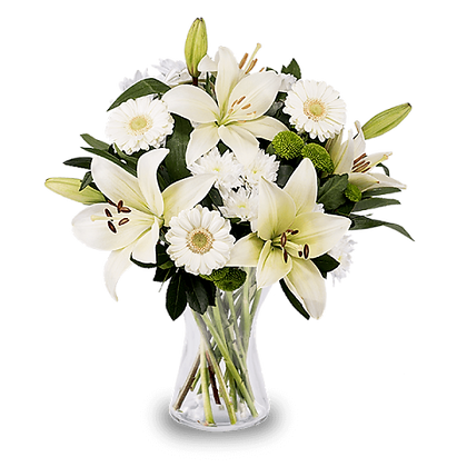 White Lilies and Gerberas