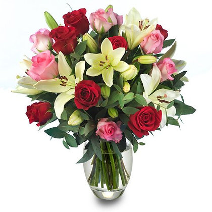 Roses Lilies mix