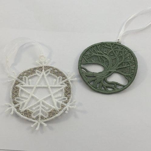 Pentagram Snowflake or Tree of Life