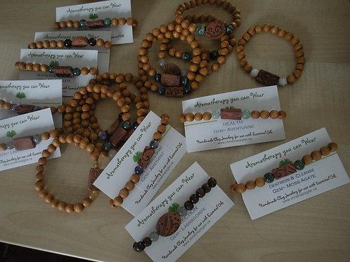 Aromatherapy clay bracelets