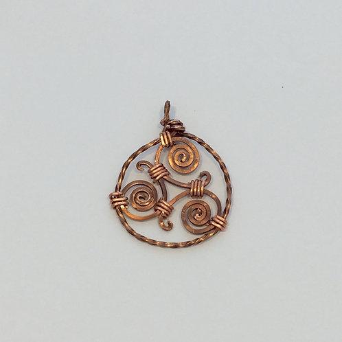 Celtic Copper Triskele
