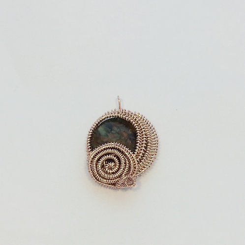 Rose Gold Wirework Pendant
