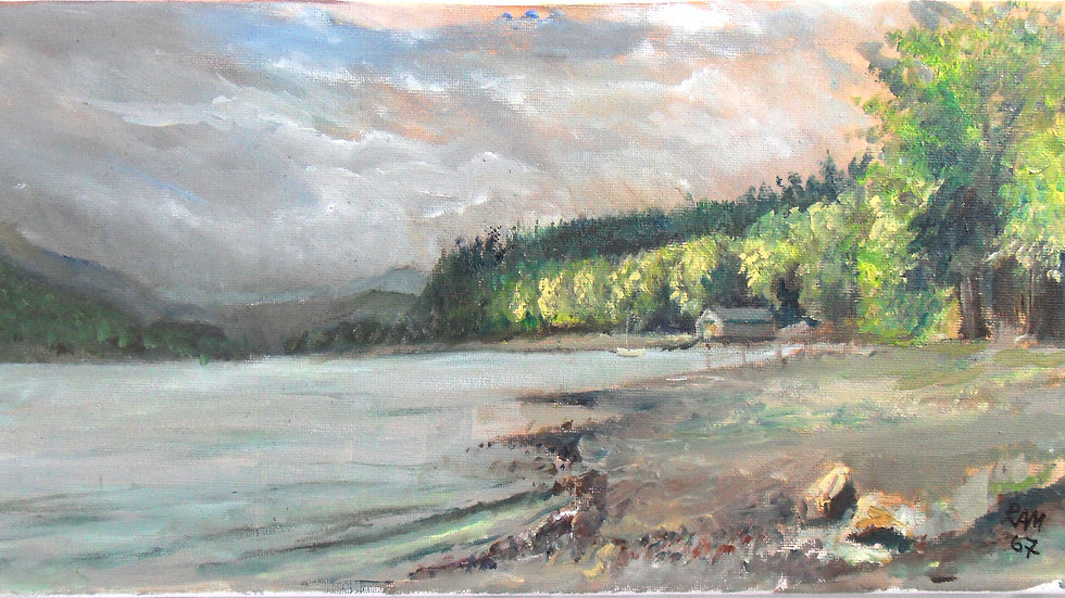 Conniston - En plein air original canvas 400mm x 200mm