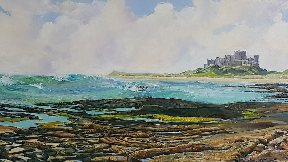 Limited Edition Print - Bamburgh Castle - along the shore