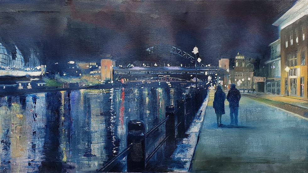 Night Lights on Tyne