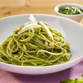 Spaghetti mit Sauerampfer-Pesto