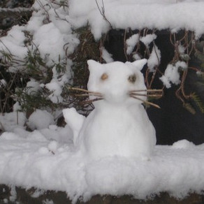 Schneeskulpturen