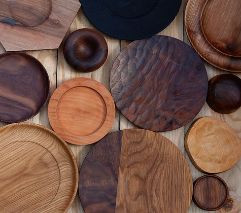 Sangiovanni Estudio artesany wood plate dish plato madera