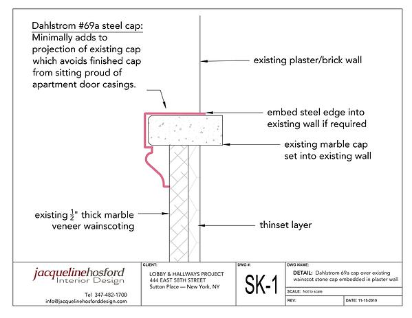 2 - Stone wainscot cap solution.png