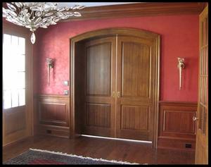 Faux Mahogany painted doors