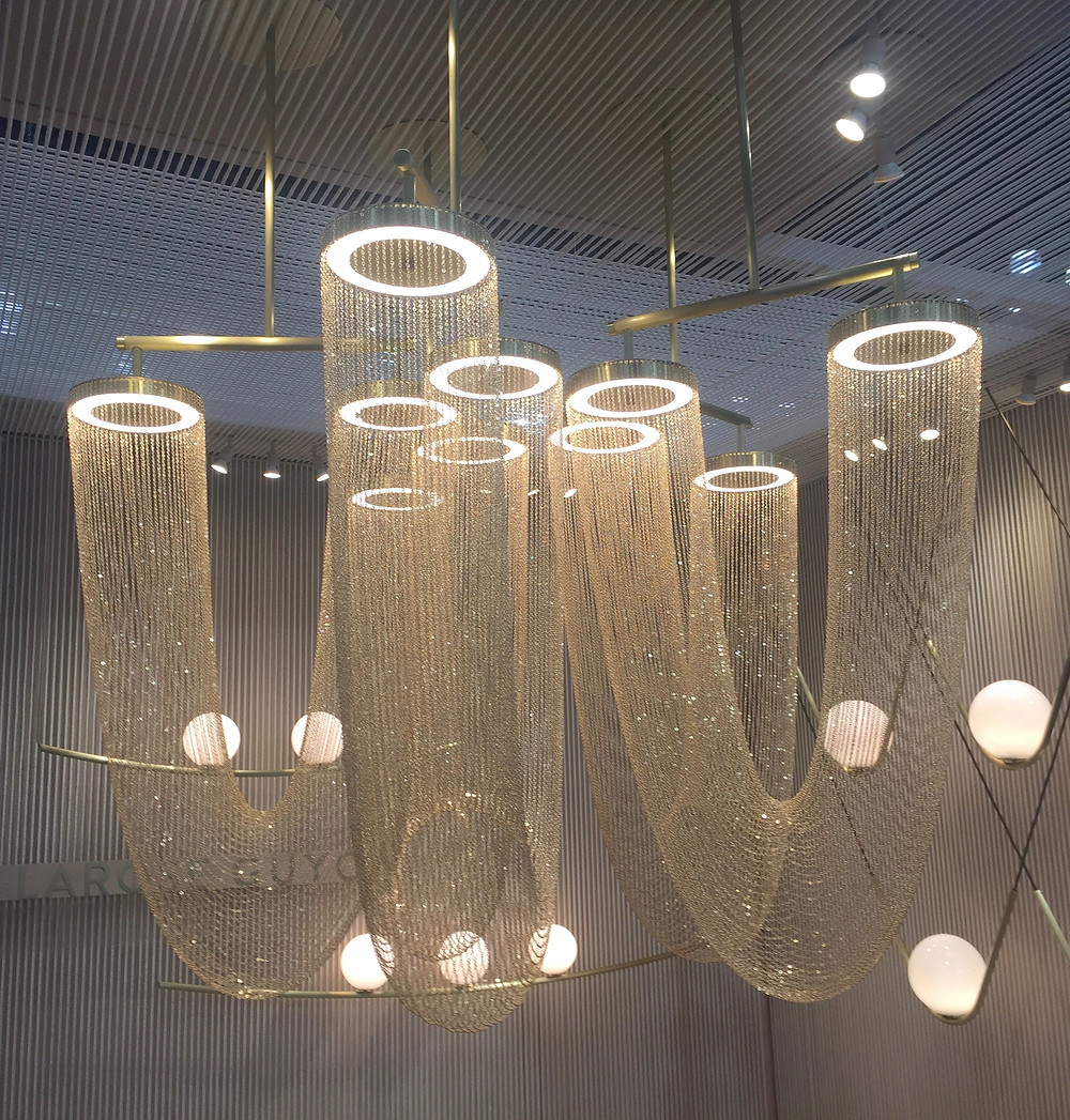 Otero light chandeliers by Larose Guyon