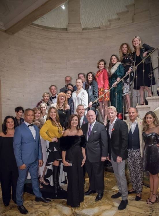 All of the designers of Holiday House NYC 2017 -Opening night at the Academy Mansion in NYC.