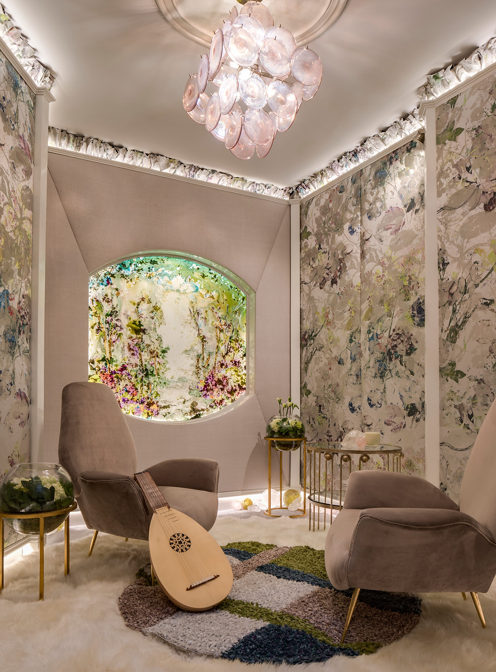 "Holiday House NYC 2018 ""Spring Dawn"" room design by Jacqueline Hosford"