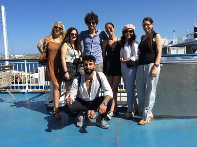 Trip on boat