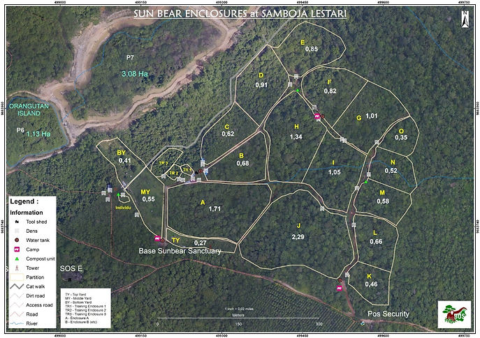 Aktuelle Karte neues BOS-Rettungsstation Samboja Lestari (Borneo)