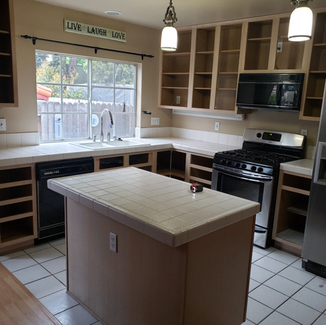 Before Kitchen Remodel in Long Beach, Ca