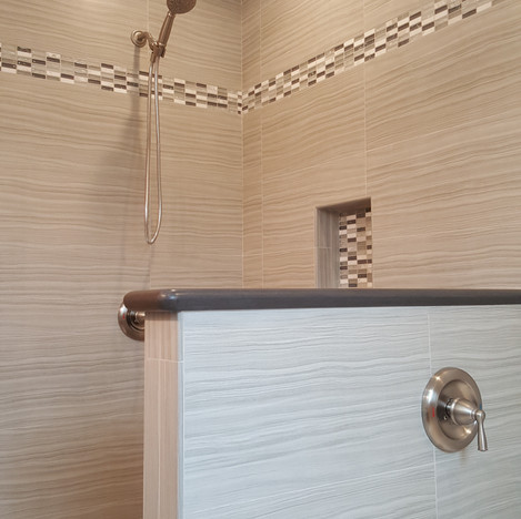 After Wall Removel and New Walk-in Shower