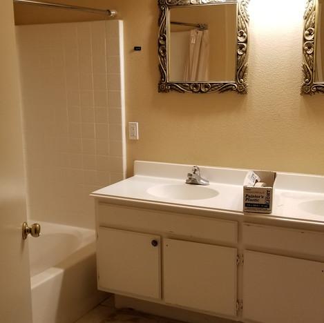 Before Walk-in and Vanity Bathroom Remodel in Simi Valley Ca