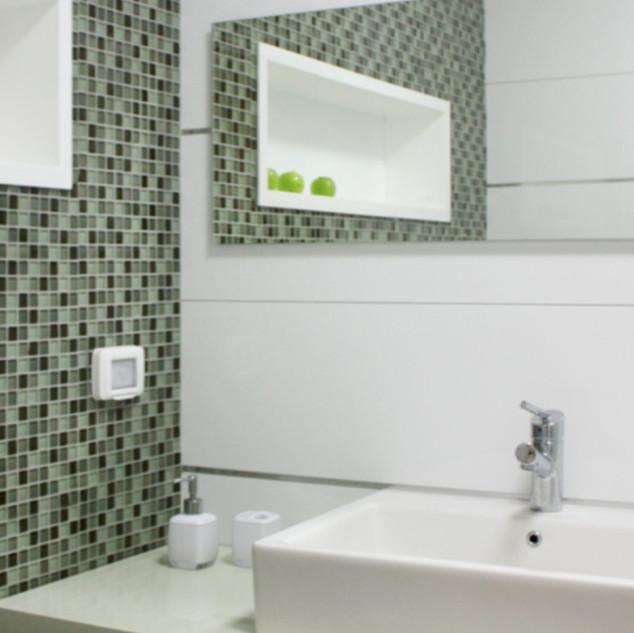 Tile Accent Bathroom Remodel