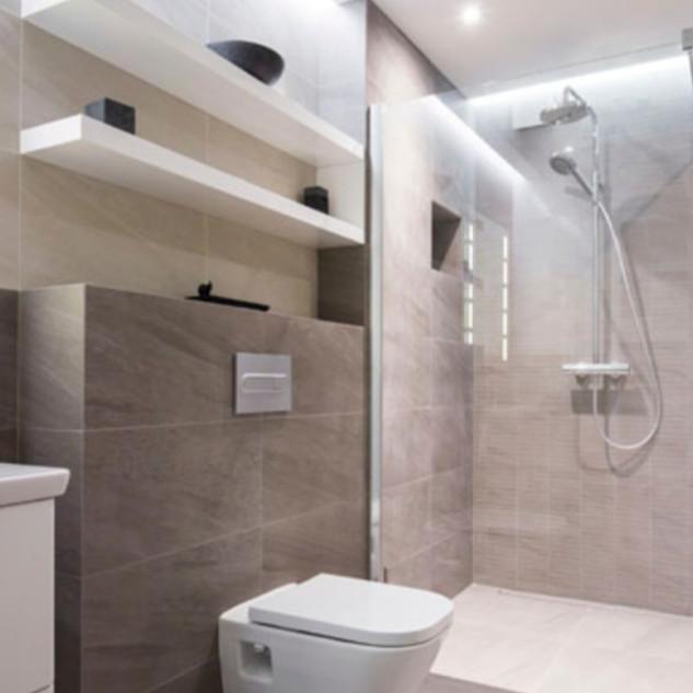 Huge Walk-in Shower Bathroom