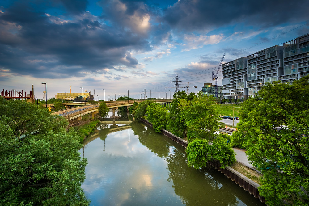 As the once natural, then industrial, now post industrial riverfront undergoes change one of the efforts has been to restore natural flood proofing measures.