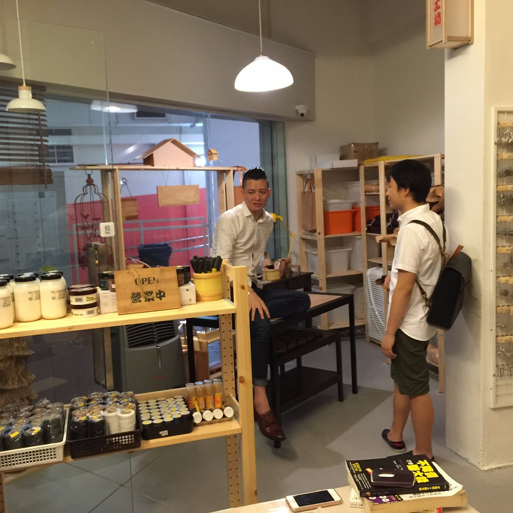 Mr Chan chatting with Macky of Gazelle 91