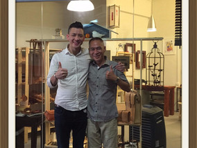Brothers Leathercraft's owner visit to CHOO-P Singapore