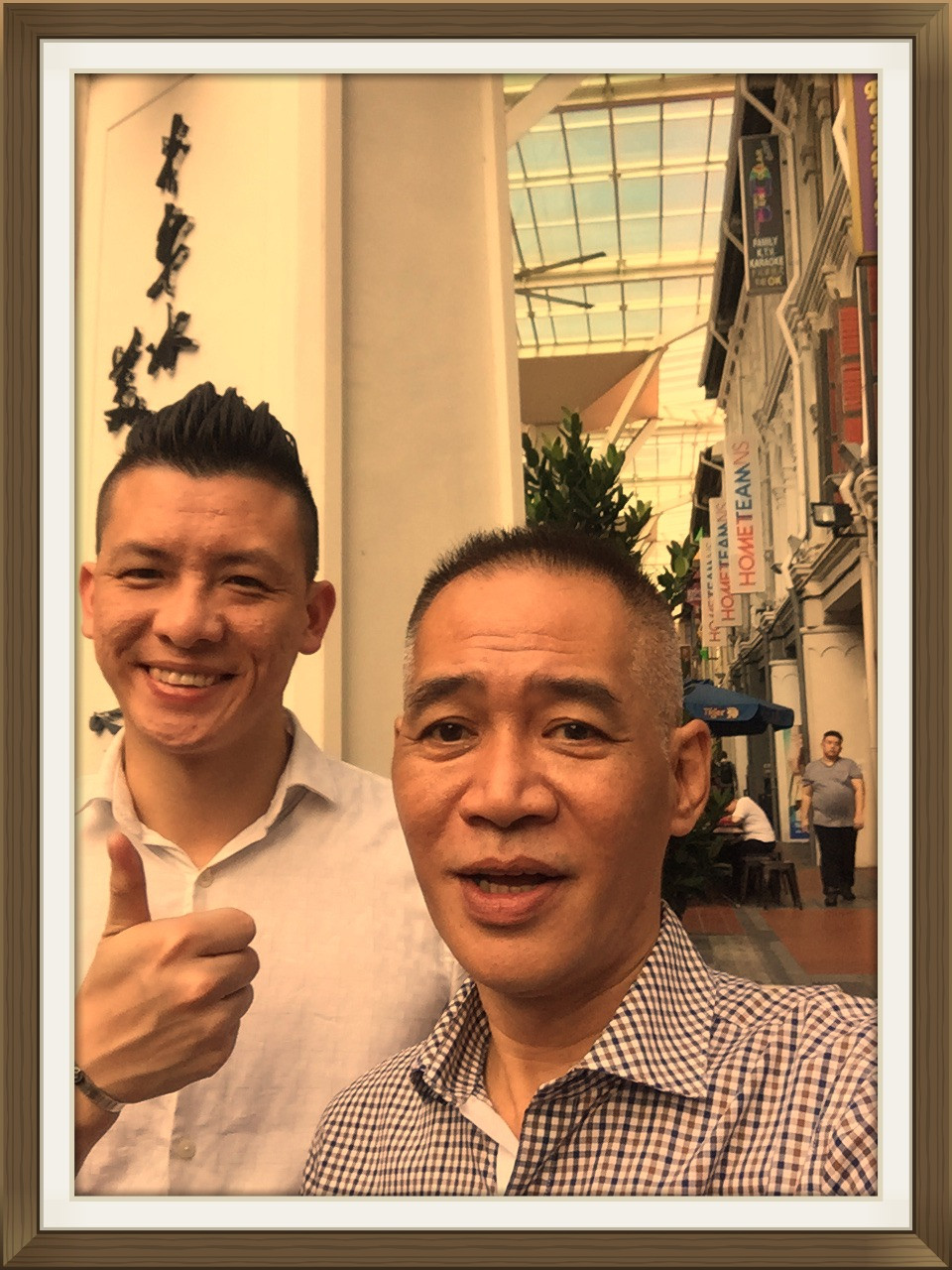 Selfie in China town street