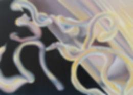 Sunplease, Oil and Spray Paint on Canvas