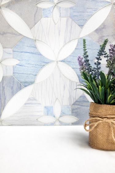 Lace in Azure Venato & Blanc Bosseler gl