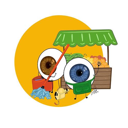Eye-ssential Workers - Grocery Clerk & Custodian 20 count